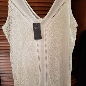 NWT Abercrombie & Fitch White Dress